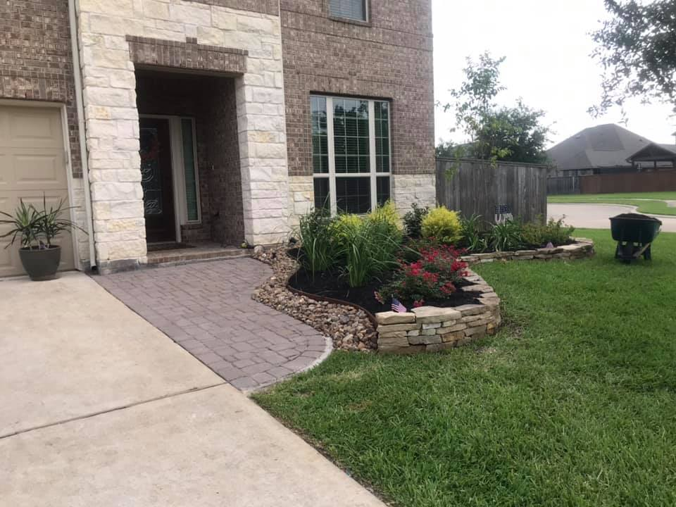 Paver Pathway and Complete Landscape Renovation